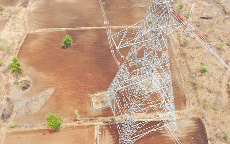 Programmable Drone based Patrolling of Transmission Lines